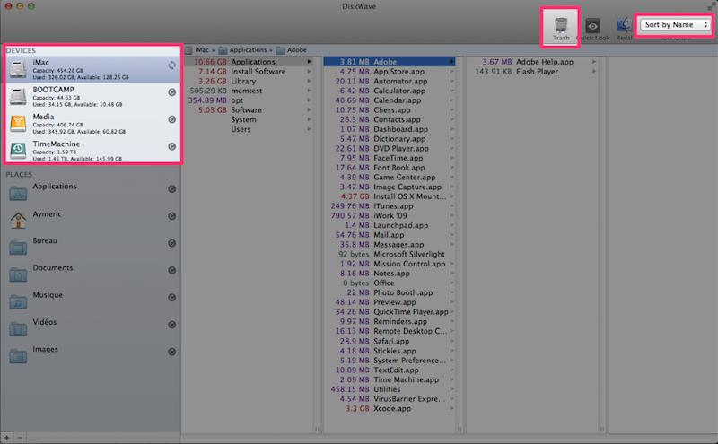 Diskwaveでファイル容量を可視化