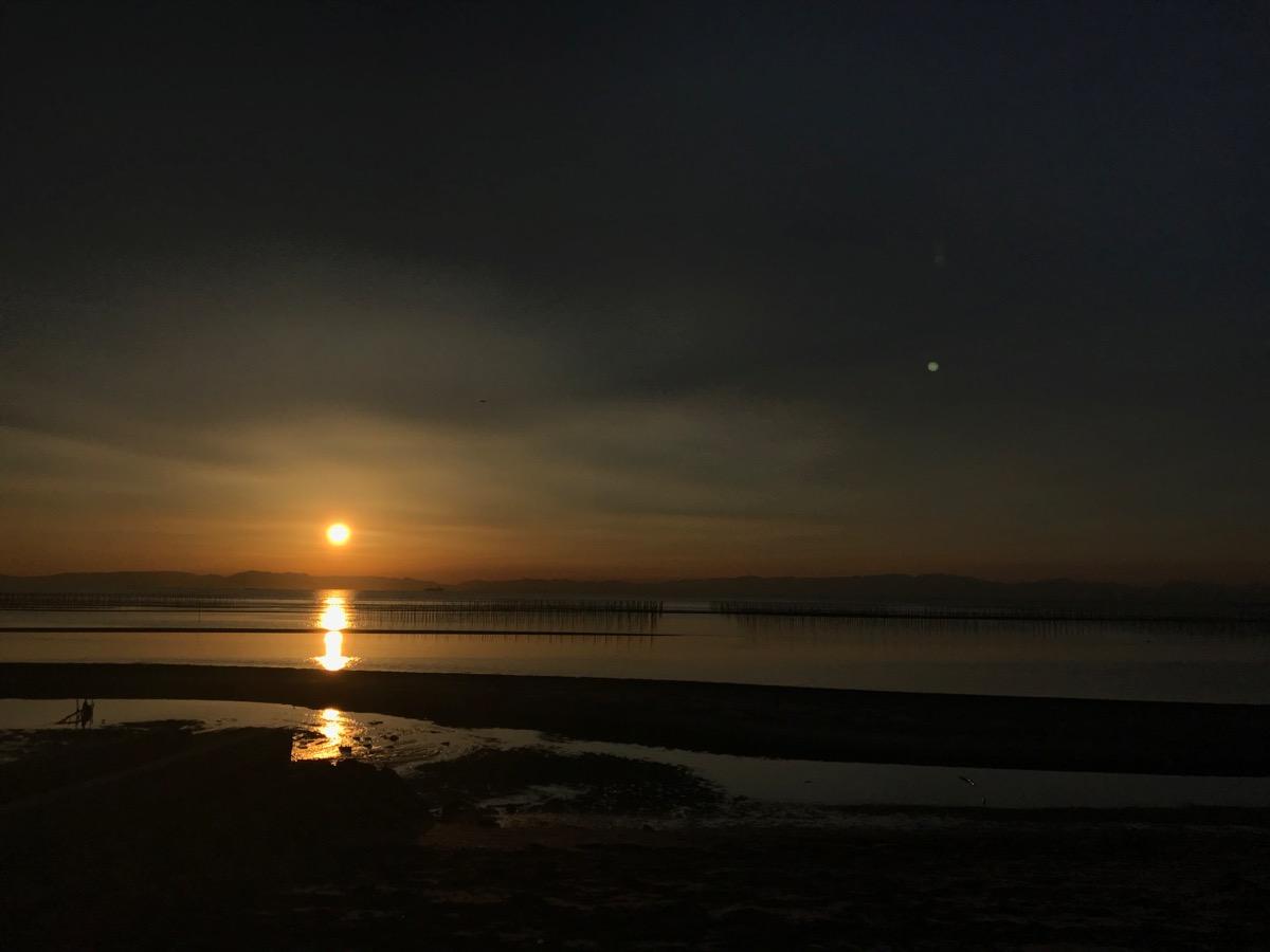 夕日が沈む直前