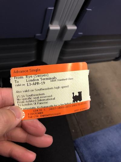 イギリス国鉄の切符