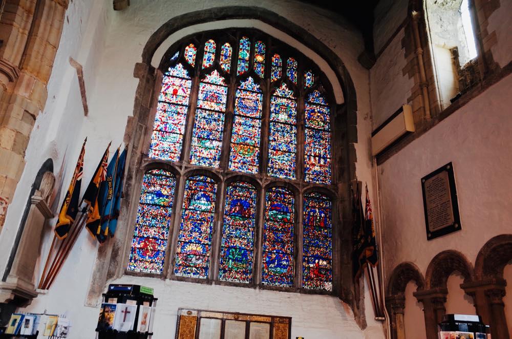 イギリス・ライ中心部のセントメアリー教会の中