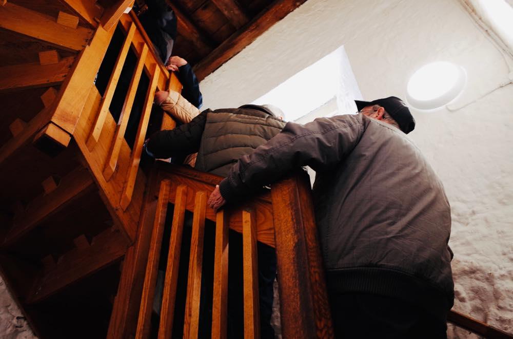 セントメアリー教会の塔の上に登る時