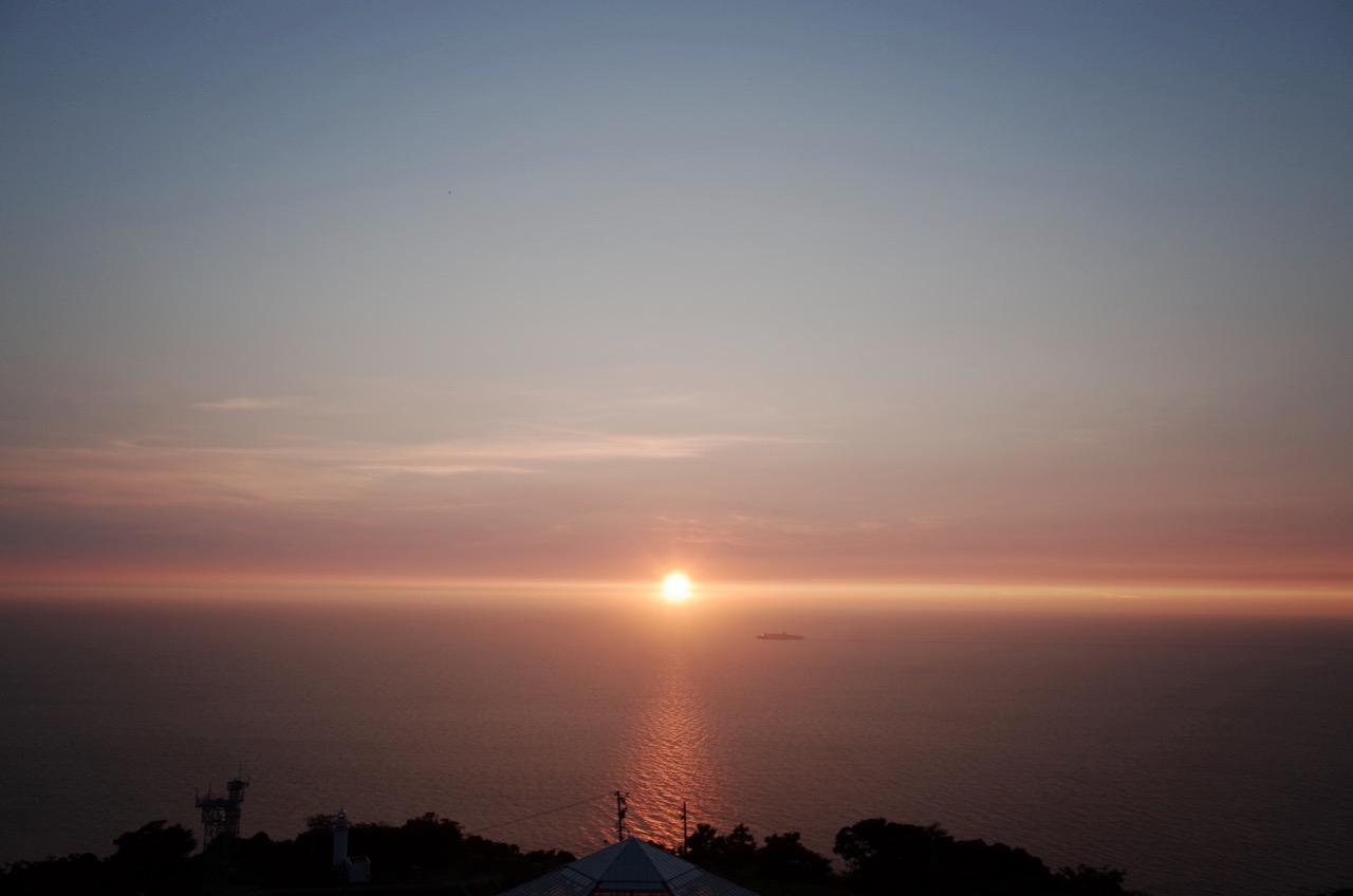 越前岬からの夕日