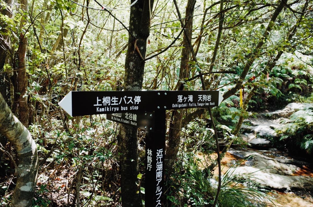 金勝アルプス落ヶ滝へのルート