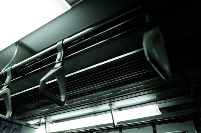 京都地下鉄車内