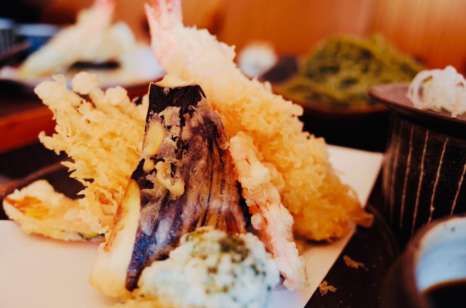手打ち蕎麦柿右衛門の天ぷら